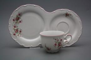 Snídaňový set čajový Ofélie Růžičky růžové RL
