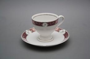 Kávové šapo 0,135l Christine Monaco Purple Platinum Iniciála
