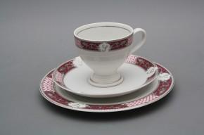 Kávová snídaňová souprava Christine Monaco Purple Platinum Iniciála