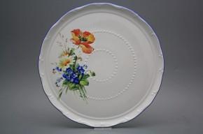 Dortový talíř 30cm Ofélie Polní kvítí HAL