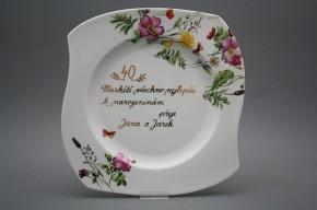 Dárkový talíř mělký 31,5cm Eureka Louka GL