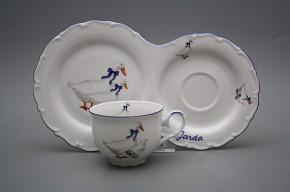 Dárkový snídaňový set čajový Ofélie Husy ML
