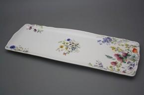 Podnos čtyřhranný 45cm Rokoko Kvetoucí louka BB