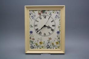 Nástěnné hodiny 25x30cm Kvetoucí louka cPB