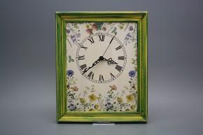 Nástěnné hodiny 25x30cm Kvetoucí louka cZM