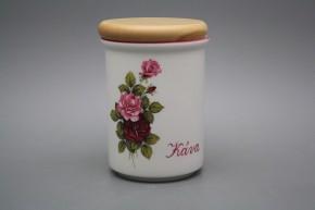Dóza s dřevěným uzávěrem C - velká Růže Elizabeth RL