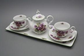 Přátelská čajová souprava s konvičkou Ofélie Macešky 6dílná ZL