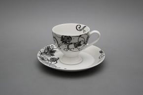 Kávové šapo 0,135l Christine Parisian Black SI