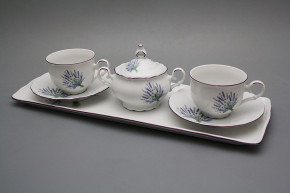 Přátelská čajová souprava s cukřenkou Ofélie Levandule 6dílná HFL