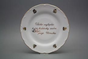Dárkový talíř mělký 25cm Ofélie Houby AGL