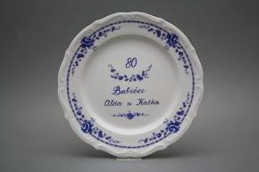 Dárkový talíř mělký 25cm Ofélie Maria Teresa Royal Blue ML