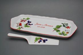 Dárkový podnos s lopatkou a věnováním 36cm Ofélie Lesní plody CL