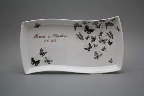 Dárkový podnos s věnováním 35cm Eureka Černí motýlci GL