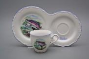 Dárkový snídaňový set kávový Ofélie Pstruh AL